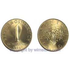 2. Republik, 1 Schilling, 1959 2001, J 492, Kupfer/Alu S1768a