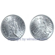 2. Republik, 1 Schilling, 1946 1957, J 455, Aluminium S2230a