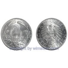 2. Republik, 2 Schilling, 1946 1952, J 456, Aluminium S2238a