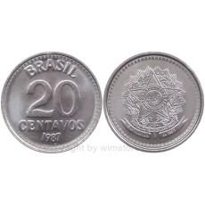 Brasilien, 20 Centavos, 1986 1988, KM 603, Stahl S9143a