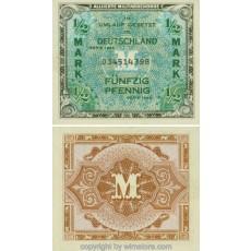 Alliierte Militärbehörde, R 200a, 1/2 Mark, 1944 SG12900a