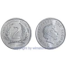 Ostkaribische Staaten, 2 Cents ab 2002, KM 35, Aluminium SM13212a
